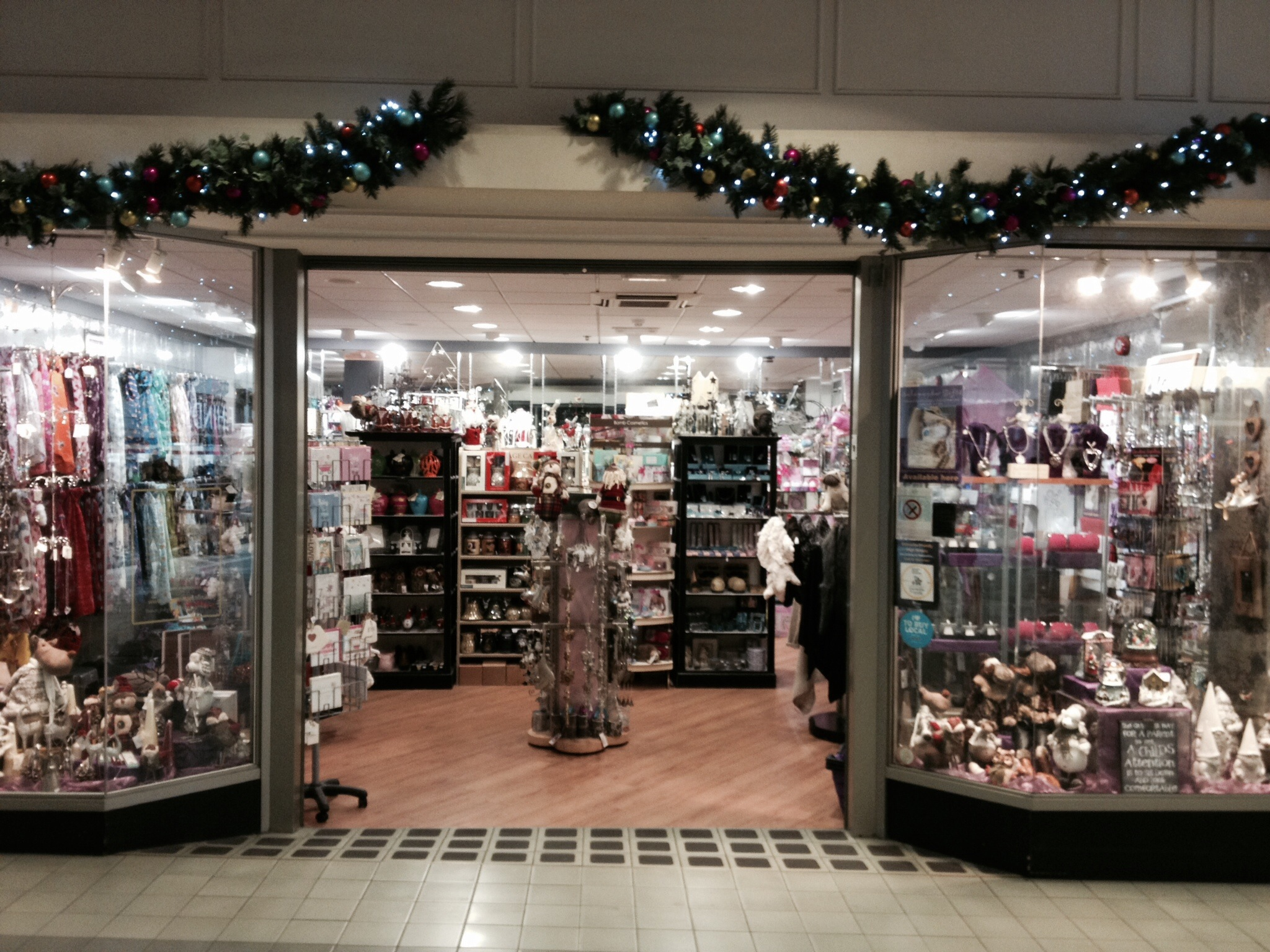 Now open Sunday's until Christmas…