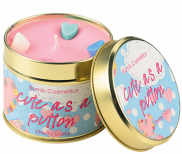 Cute, Button, Tinned, Candle
