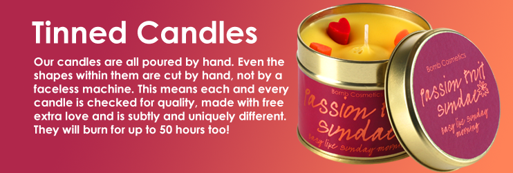 Bomb Cosmetics tinned and piped glass candles
