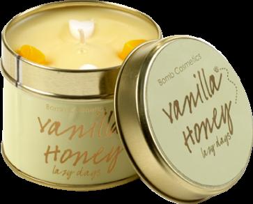 Vanilla, honey, tinned, candle