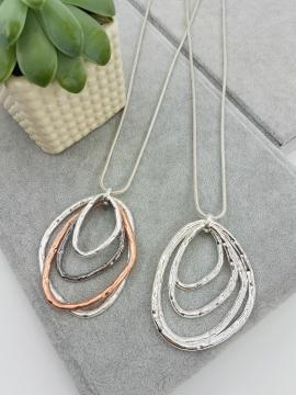 Long, pendant, silver, circular, shapes
