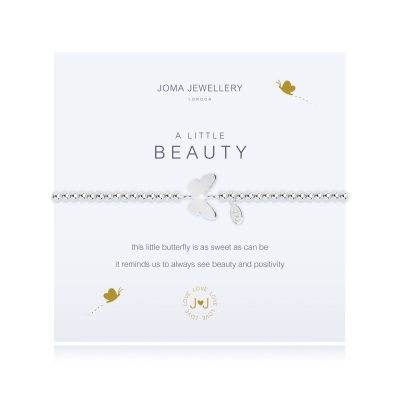 Little, beauty, butterfly, bracelet, joma, silver, plated