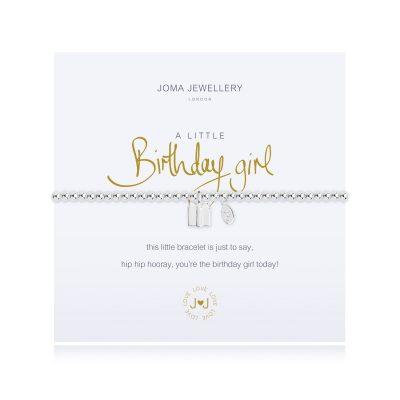 little, birthday, girl, charm, bracelet, joma