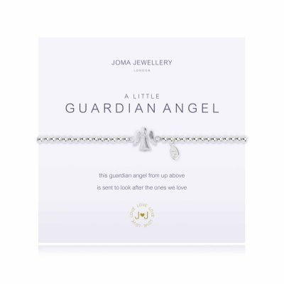 little, guardian, angel, silver, plated, joma, bracelet