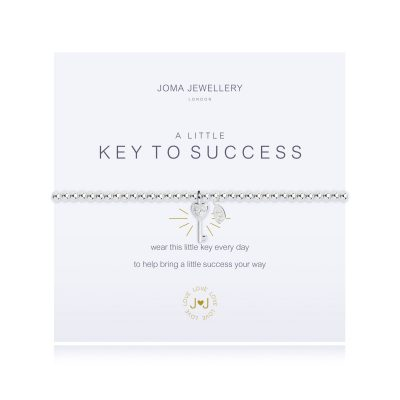 Little, key, success, charm, bracelet, silver, plated, joma