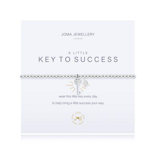 Little, key, success, charm, bracelet, silver, plated, joma