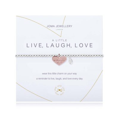 little, live, laugh, love, bracelet, silver, plated, joma