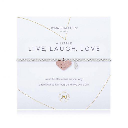 little, live, laugh, love, bracelet, silver, plated, joma