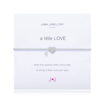 little, love, pave, heart, joma, silver, plated, bracelet