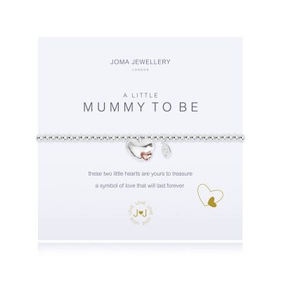 Little, mummy, to-be, bracelet, heart, silver, plated, joma