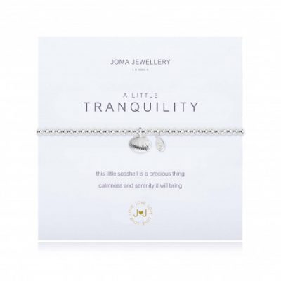 little, tranquility, seashell, silver, plated, bracelet, joma