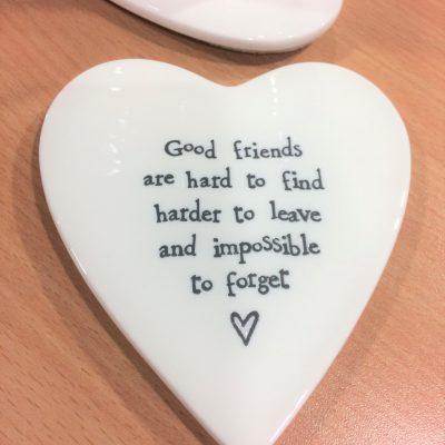 friends, ceramic, heart, coaster