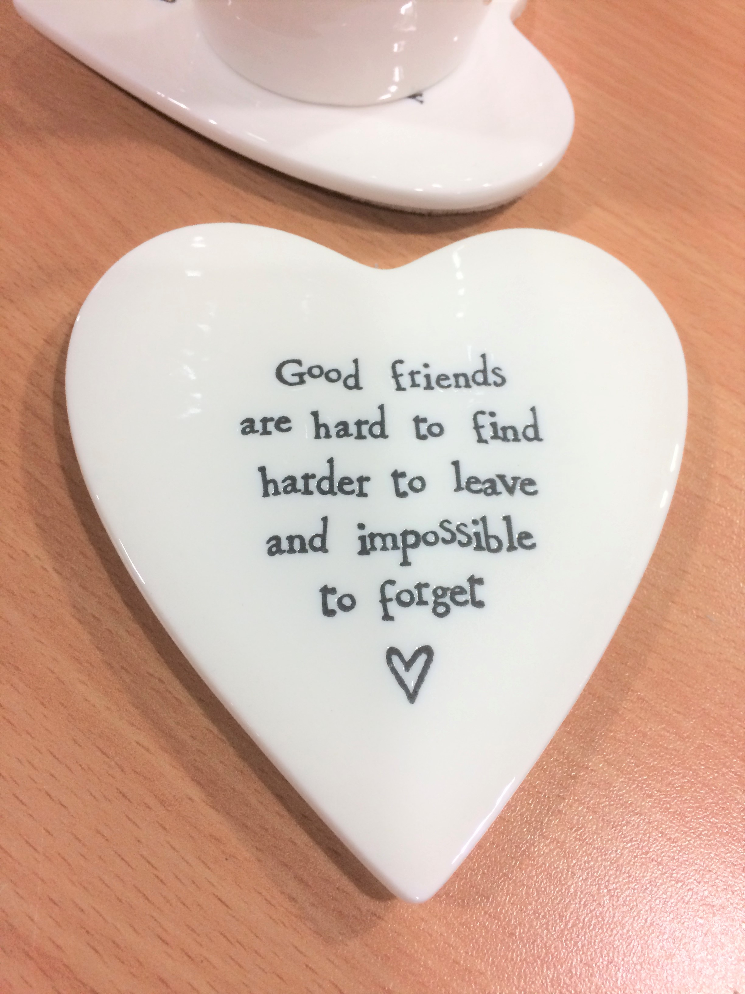 friends, ceramic, heart, coaster