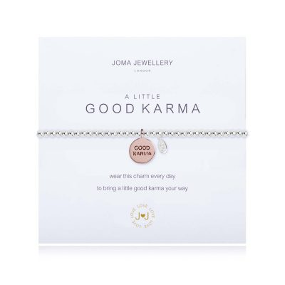 little, good, karma, bracelet, silver, rose, gold