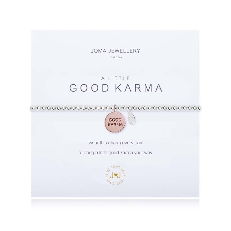 little, good, karma, bracelet, silver, rose, gold