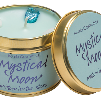 mystical, moon, tinned, candle