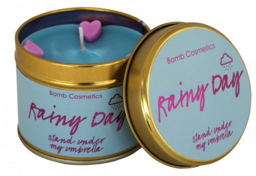 rainy, day, tinned, candle