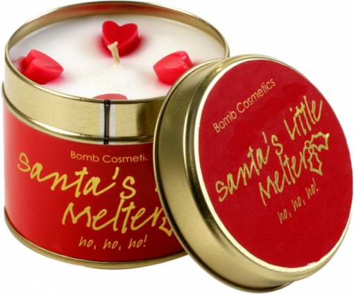 santas, little, melter, tinned, candle
