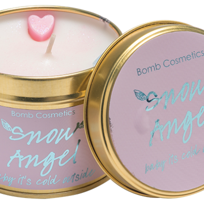 snow, angel, tinned, candle