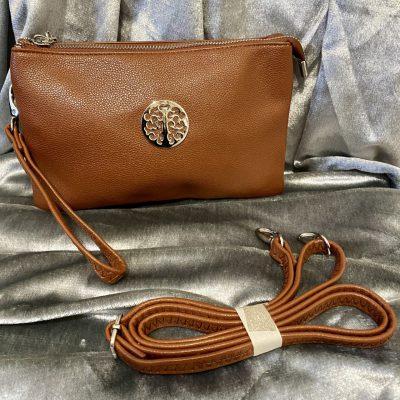 brown, tree of life, bag
