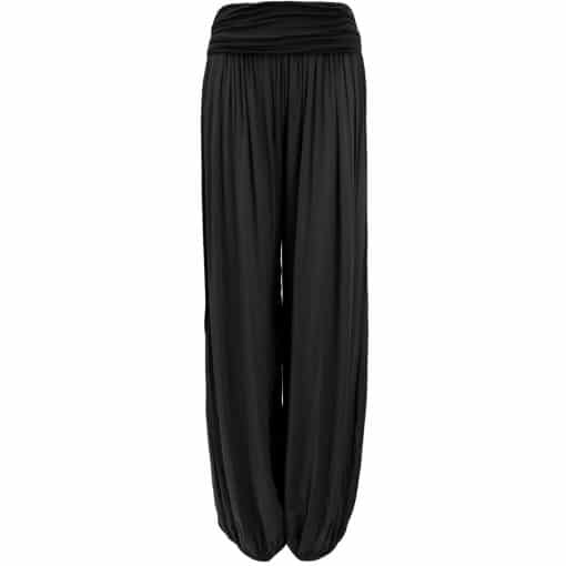 black, harem, trousers