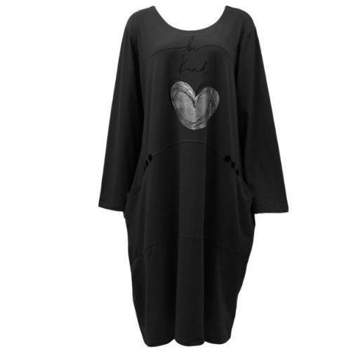 black, be kind, pocket, dress