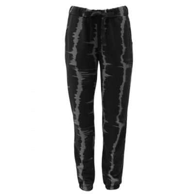 black, trousers, graffiti, tie dye