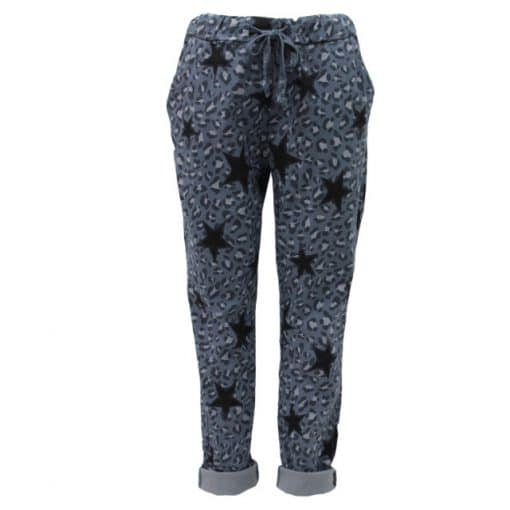 denim, blue, magic, star, crinkle, trousers, joggers