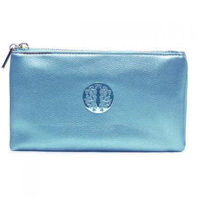 metallic, light blule, tree of life, handbag, bag