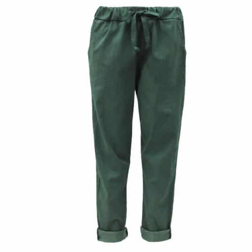 Petrol green, plain, stretchy, magic trousers, joggers