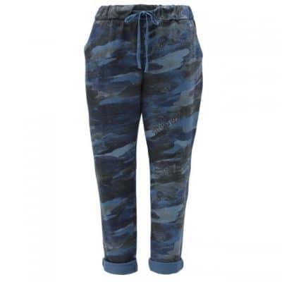 Denim blue, plain, stretchy, magic trousers, joggers