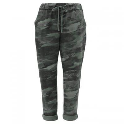 Khaki , plain, stretchy, magic trousers, joggers