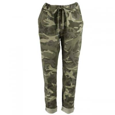 Khaki , stretchy, magic trousers, camouflage, joggers