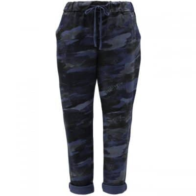 Navy blue , camo, stretchy, magic trousers, joggers