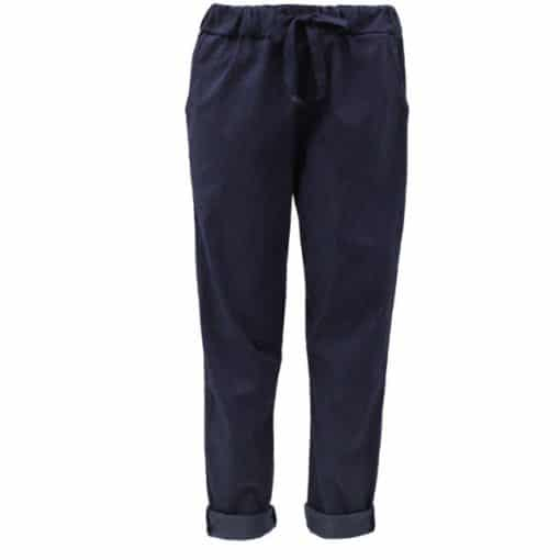 Navy blue , plain, stretchy, magic trousers, joggers