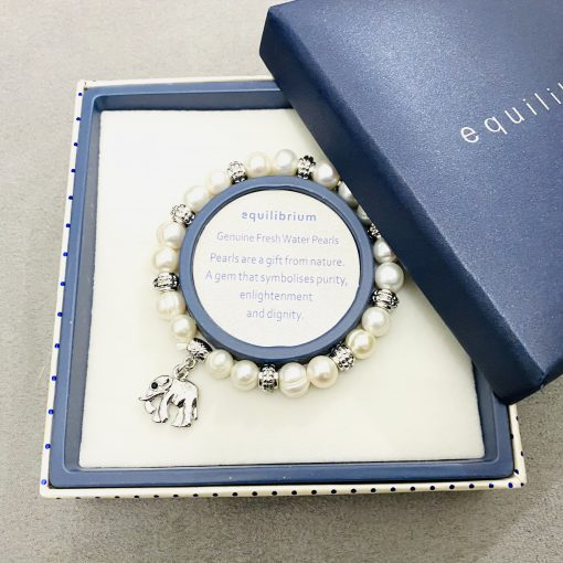 elephant, pearl, bracelet