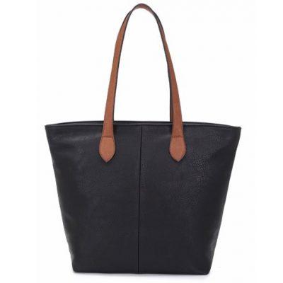 black, shoulder bag