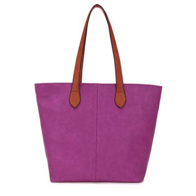 purple, shoulder bag