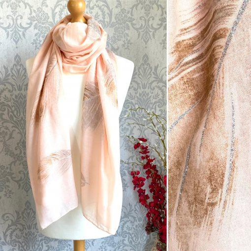 baby pink, scarf, leaf, sparkly