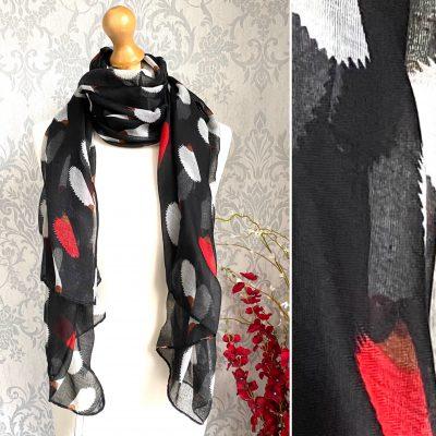Black, hedgehog, scarf