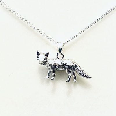 fox, necklace