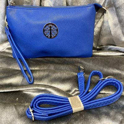 royal blue, tree of life, handbag