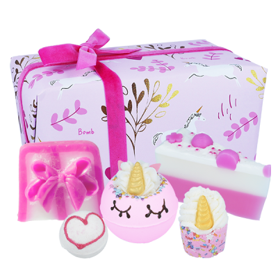 unicorn, sparkle, bath bomb, gift