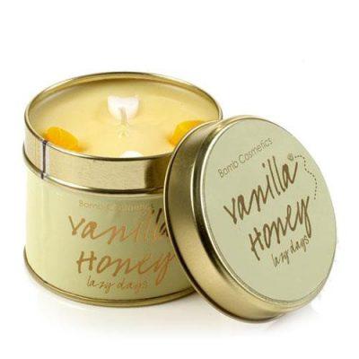 vanilla, honey, candle