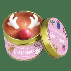 reindeer, christmas, candle,