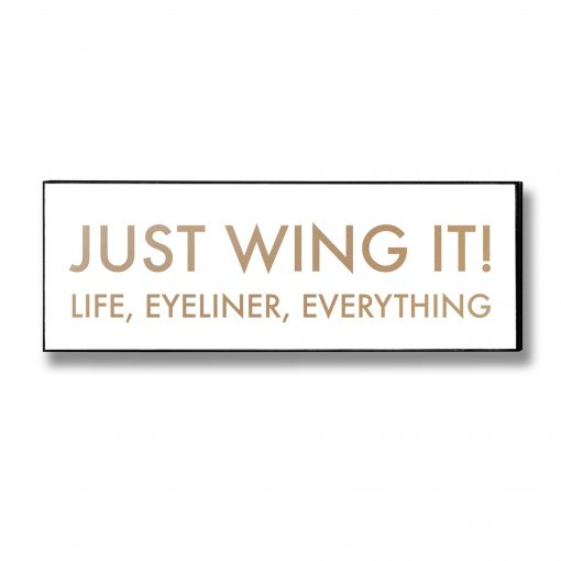 wing it, wall sign, wall plaque