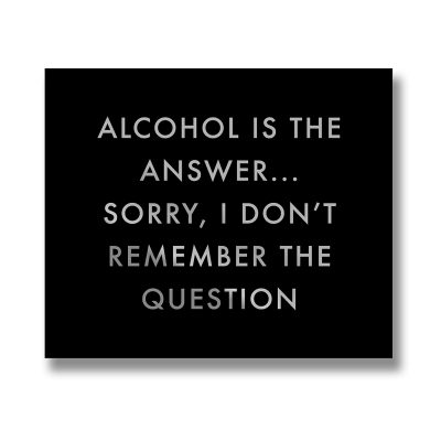alcohol, wall sign, wall plaque