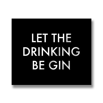 gin, wall sign, wall plaque
