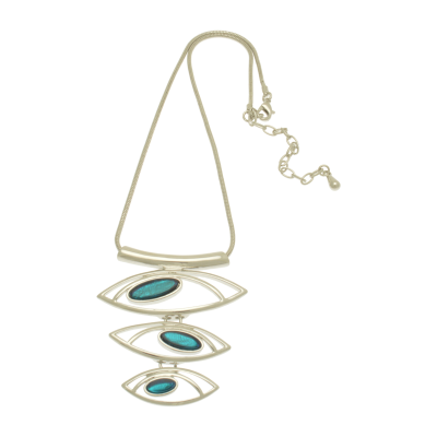 Aqua, eye, short necklace, necklace, miss milly, fn250