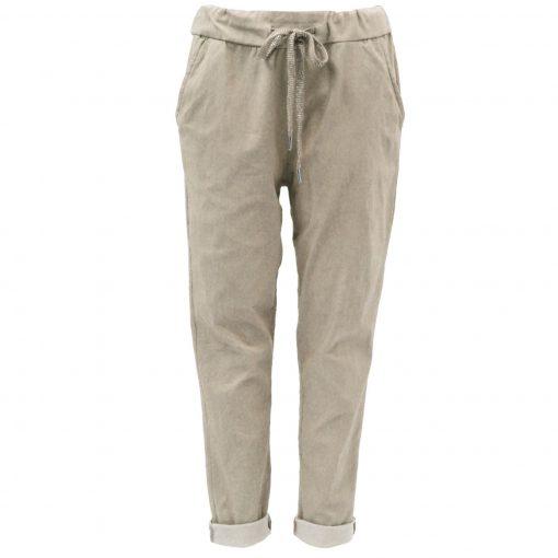 Beige , plain, stretchy, magic trousers, joggers